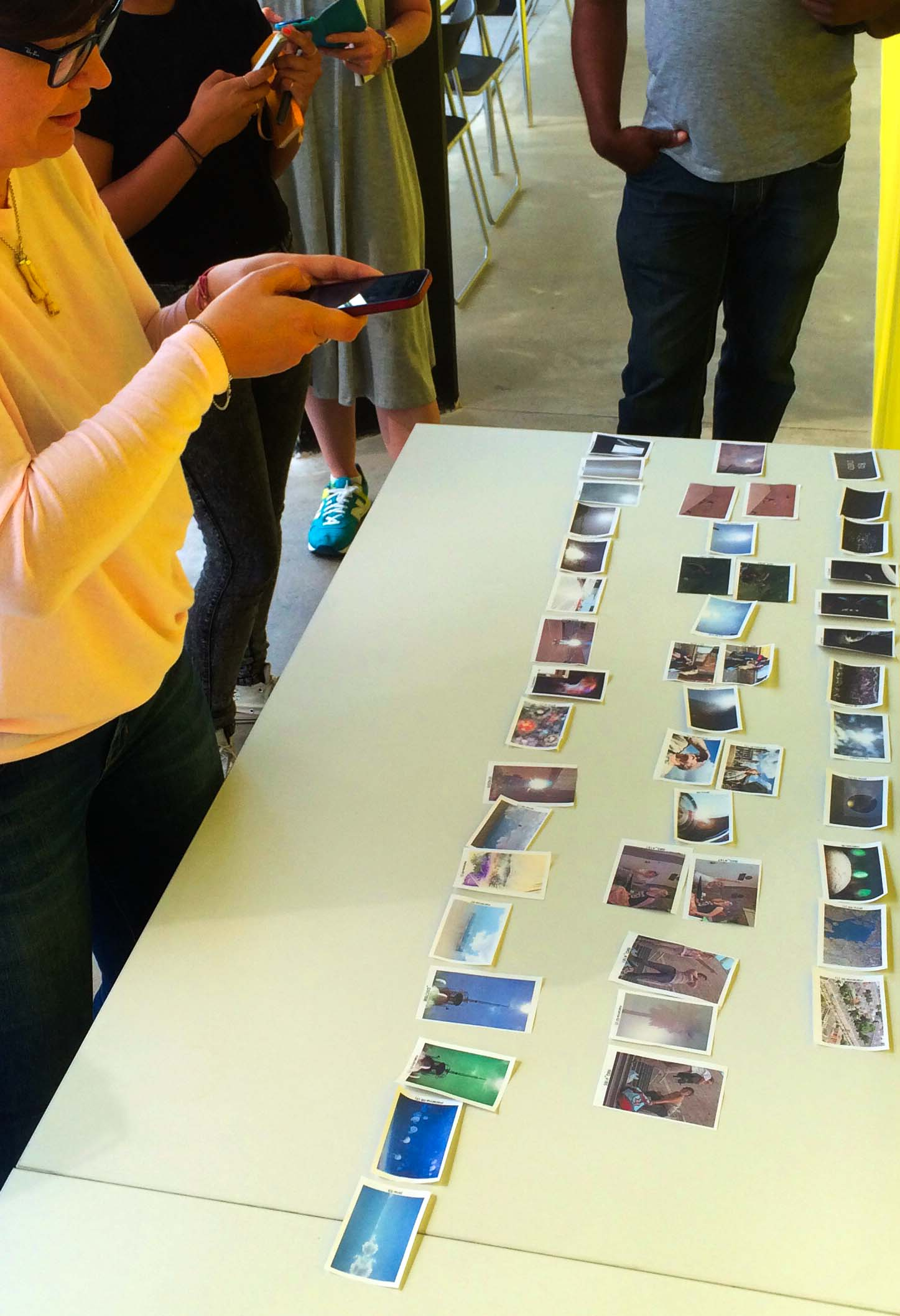 recording a sequence of promising images during a workshop